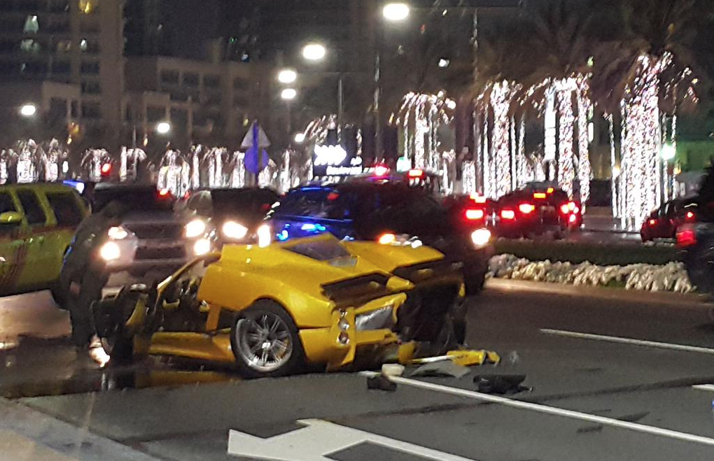 Supercar Owner Smashes Pagani Zonda F Into Tiny Pieces In Dubai