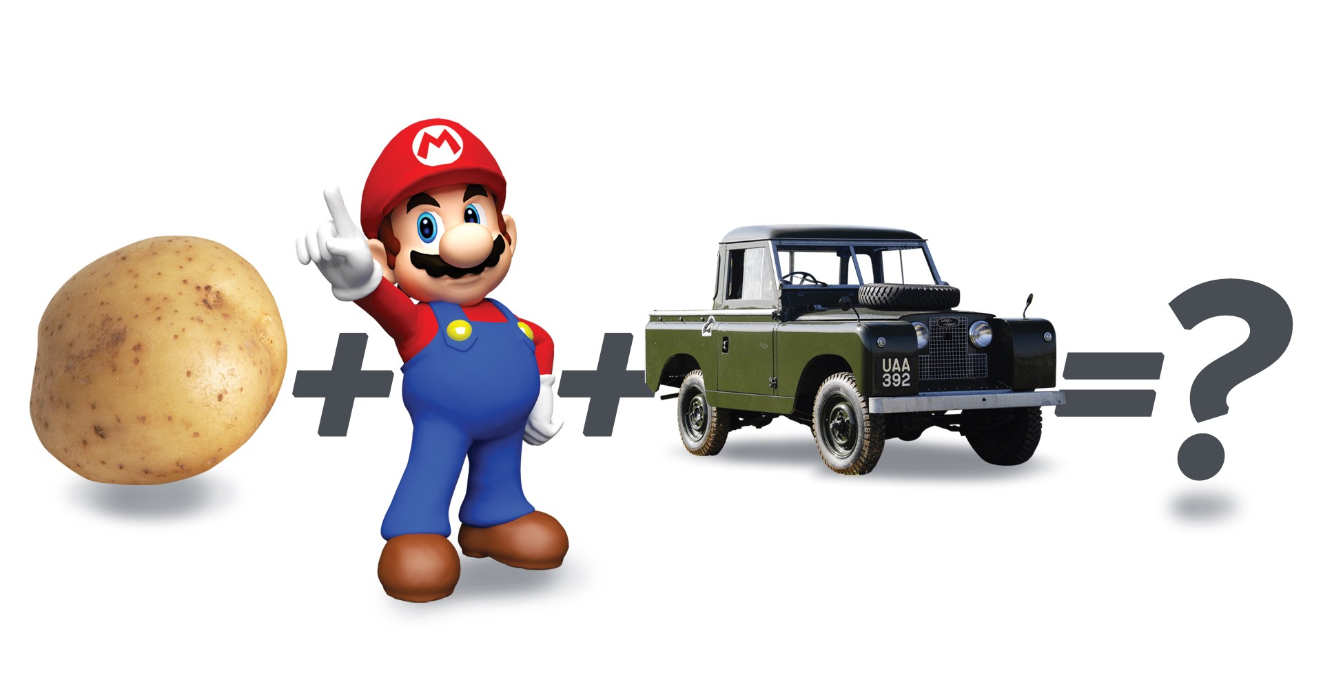 Super Mario Fixes Old Land Rover With A Potato, Doesn't Get Extra Life
