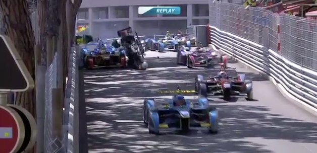 Formula E Race Begins With Classic Monaco Pile-Up