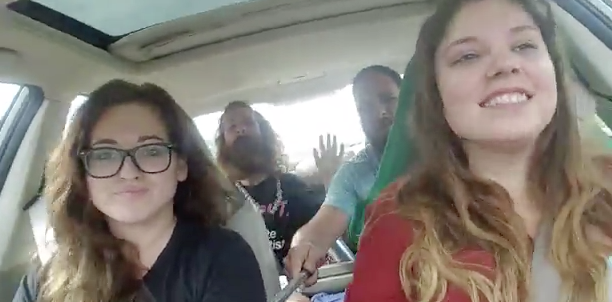 Idiots Lip Sync With Selfie Stick, Have Stupid Crash
