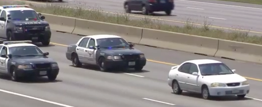 Watch Quite Possibly The Slowest Car Chase Ever