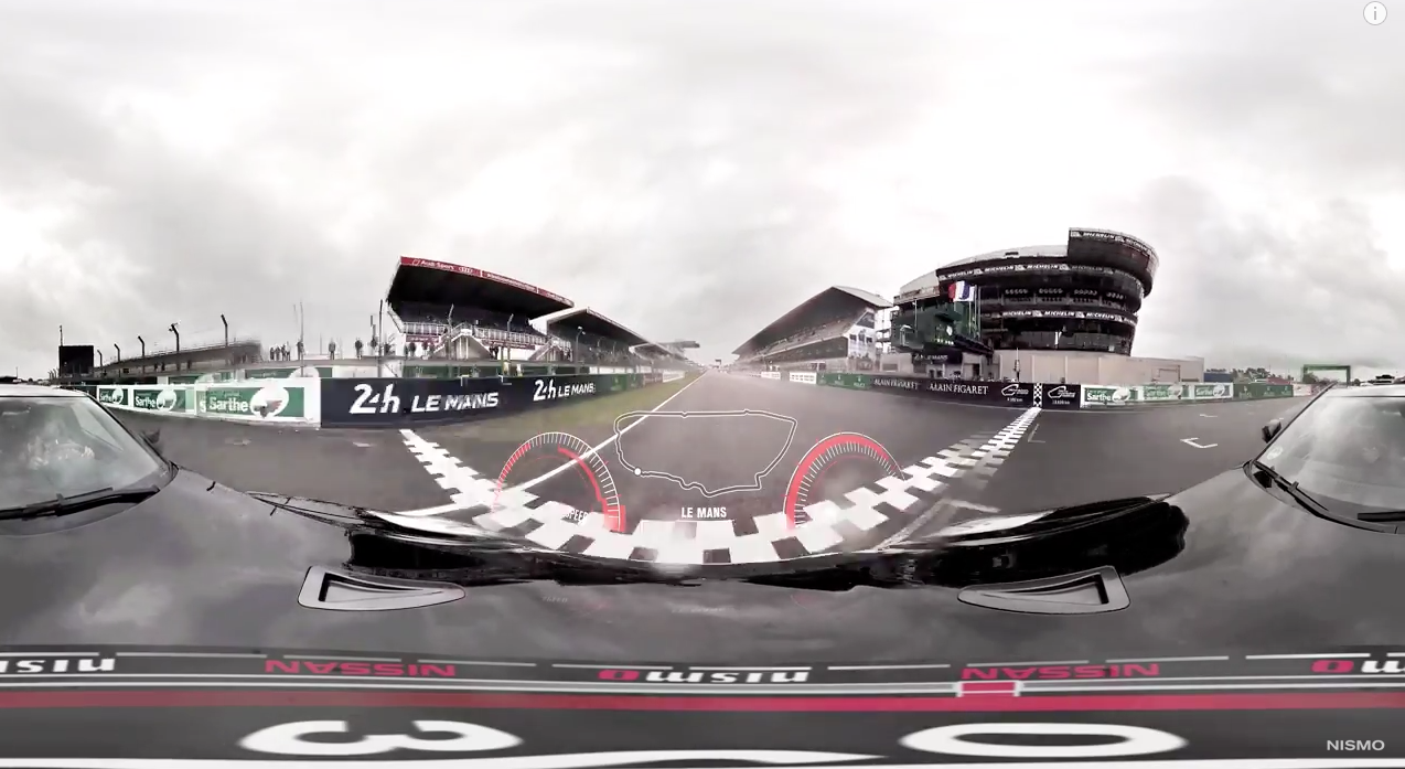 Nissan's 360 Degree Lap Of Le Mans Will Make You Feel A Bit Sick