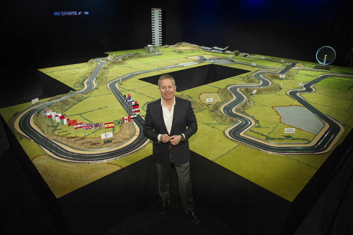 Martin Brundle's F1 Scalextric Track Is Very Cool