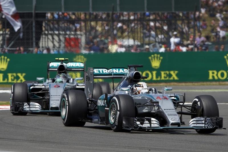 Nico Rosberg and Lewis Hamilton Silvertsone