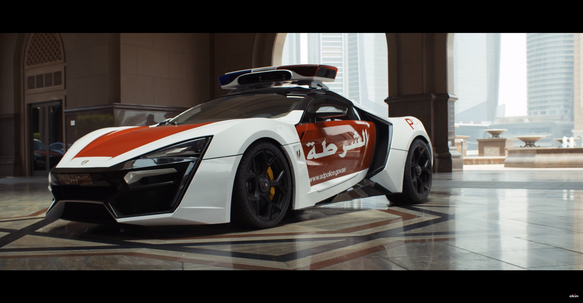 Abu Dhabi's New Police Car Is As Futuristic As It Looks