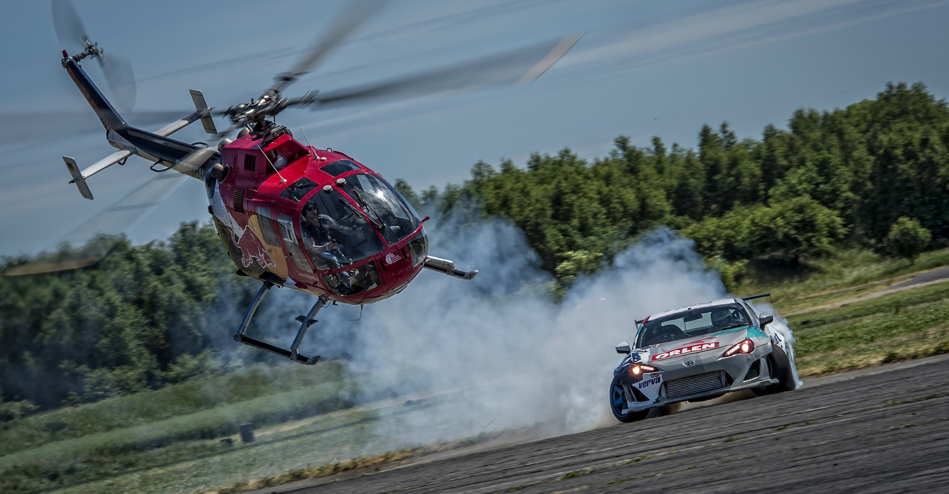 Helicopter Chasing Drift Car Is All Kinds Of Awesome