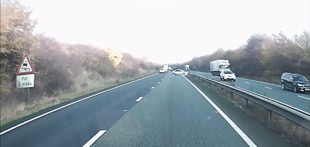 Idiot Drunk Driver Crashes Twice But Still Carries On