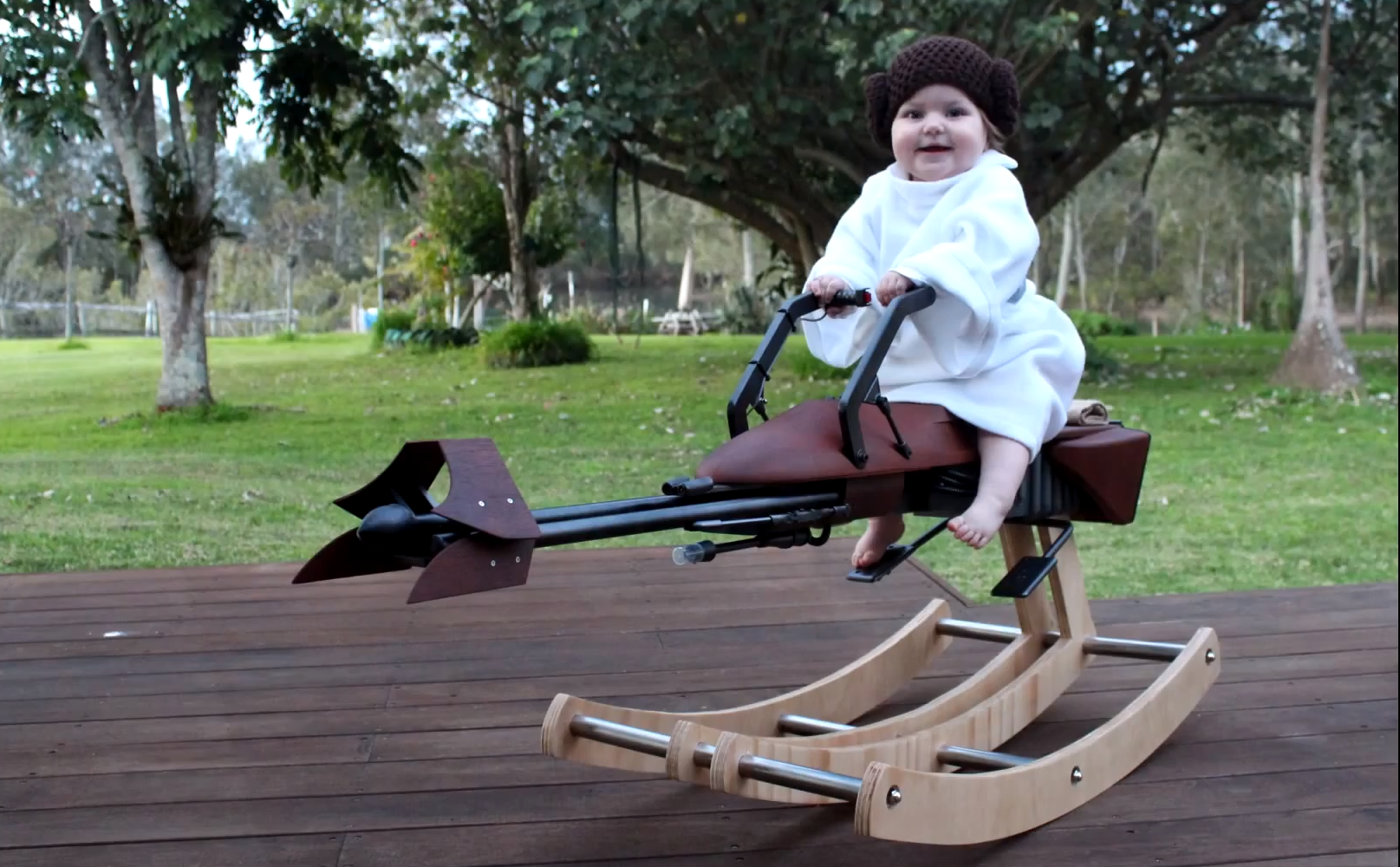 DIY Force Is Strong With Father Who Builds Star Wars Bike