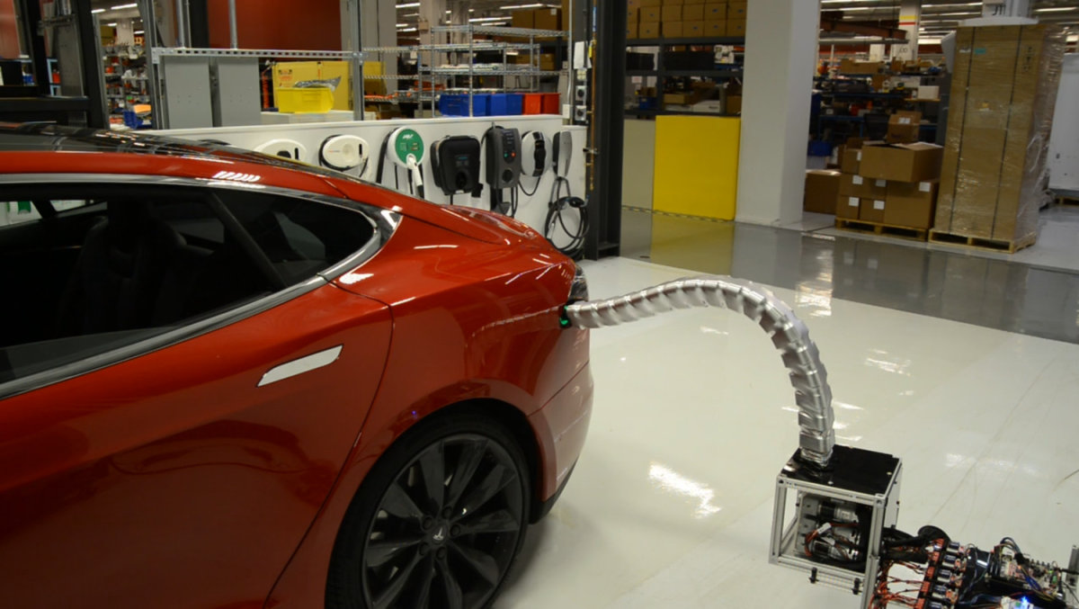 Tesla's New Robotic Charger Plugs Itself In, Freaks Everyone Out