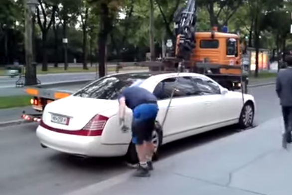 Want To Avoid Getting Your Car Towed? Buy A Maybach