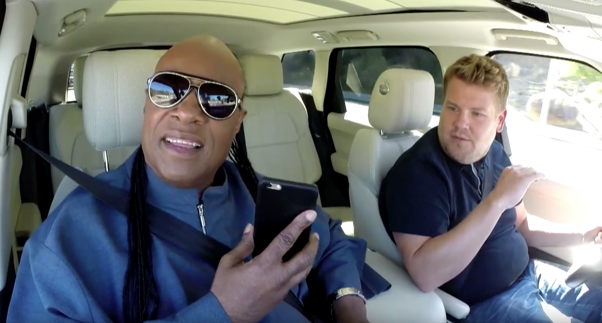 James Corden Goes For A Drive With Stevie Wonder, Corden Cries