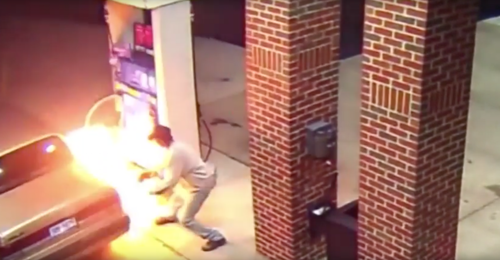 Man Tries To Kill Spider With Fire While Filling His Car With Flammable Liquid