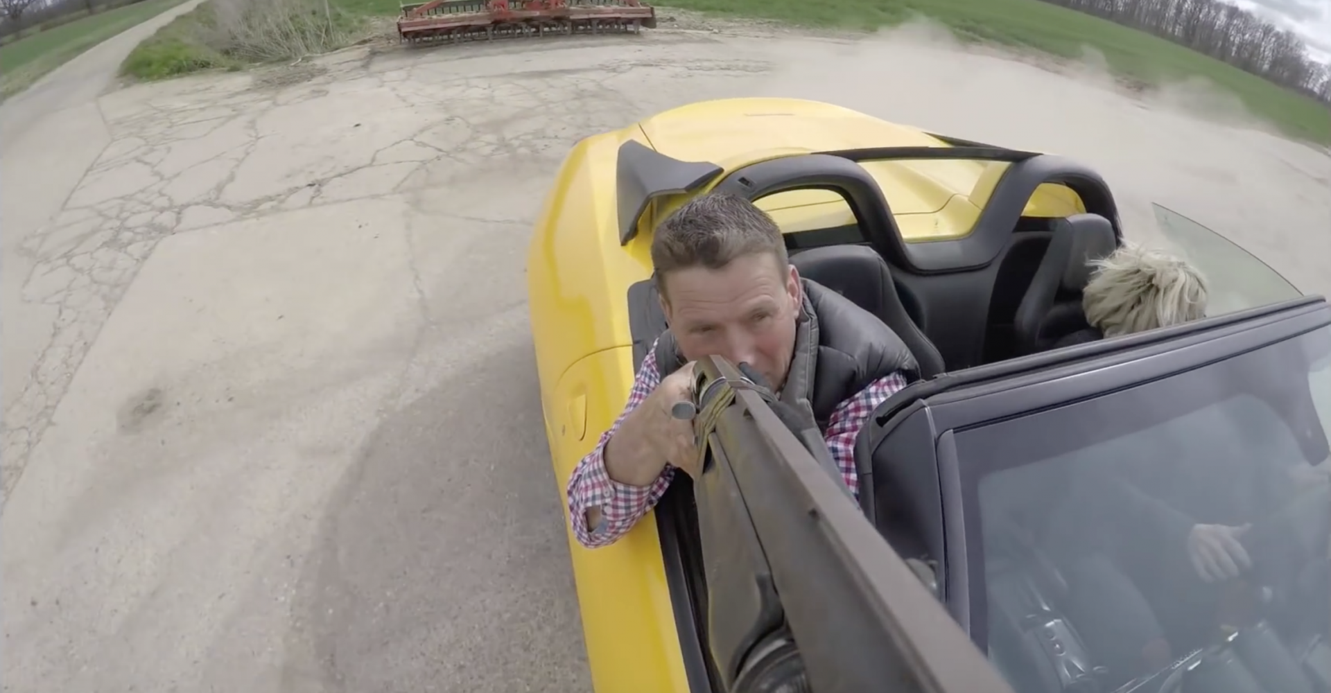 Man Shoots Clay Pigeons From Ferrari, Yes Really