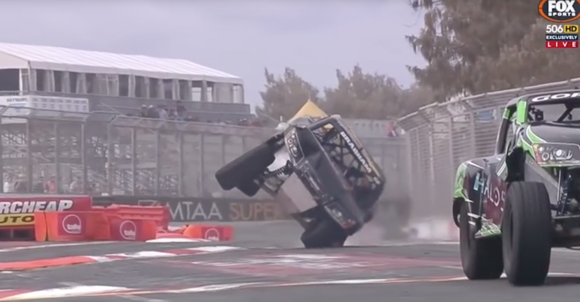 Truck Bounces Back From Crash In Super Slow Mo