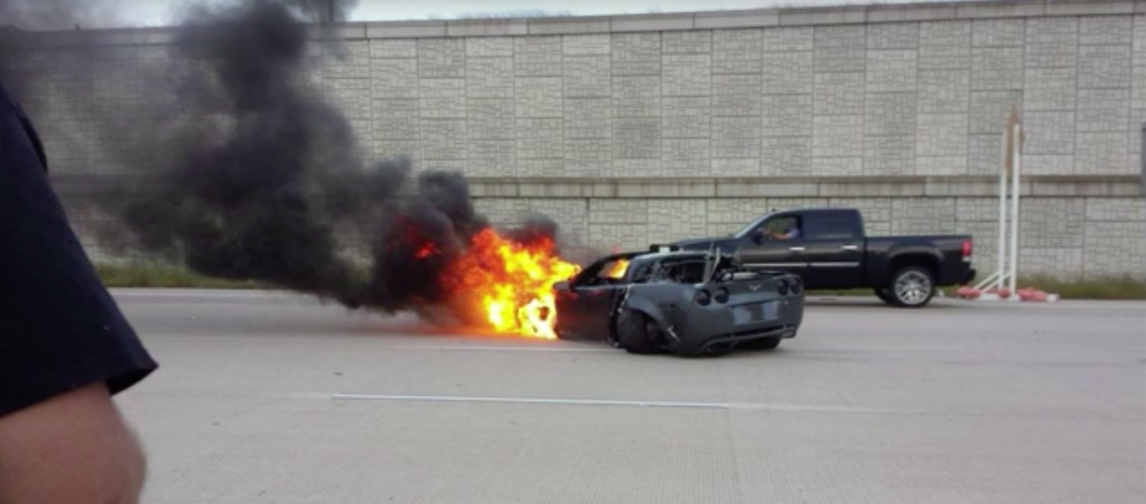 Corvette Becomes V8 Barbecue After 150mph Street Race Goes Badly Wrong