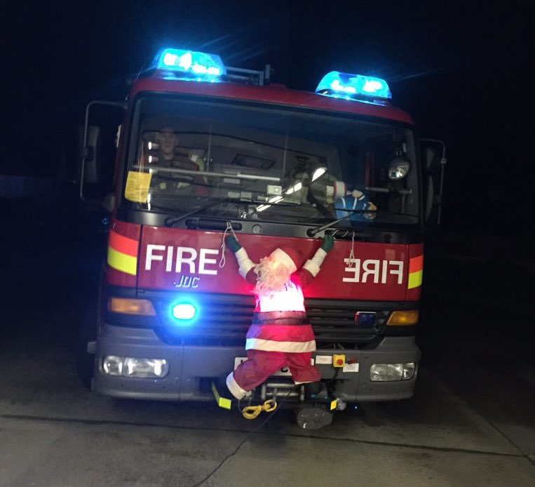 Fire Station Tweets Picture Of Flattened Santa, Causes Outrage