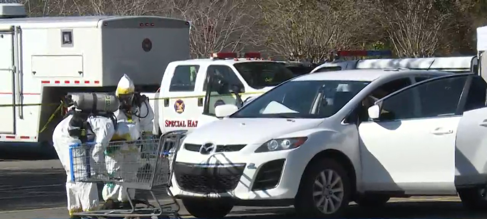 Mobile Meth Lab Found In Mazda Boot In WalMart Car Park