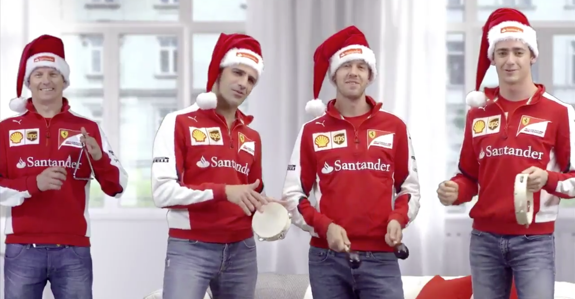 Kimi And The Gang Wish You A Ferrari Merry Christmas