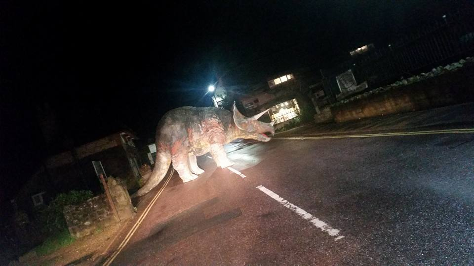 Pranksters Turn The Isle of Wight Into Jurassic Car Park