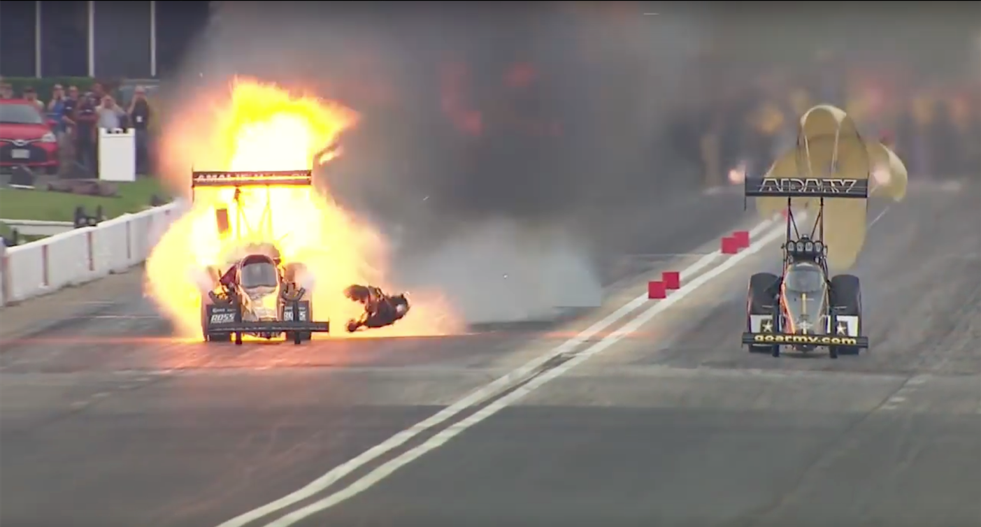 Drag Racer Explodes, Driver Walks Away Amazingly Unscathed ...