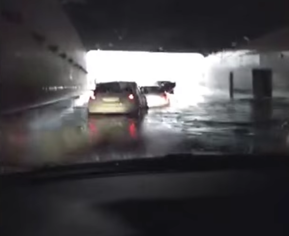 Tesla Model S Reckons It's A Boat, Sails Through Flooded Roadblock