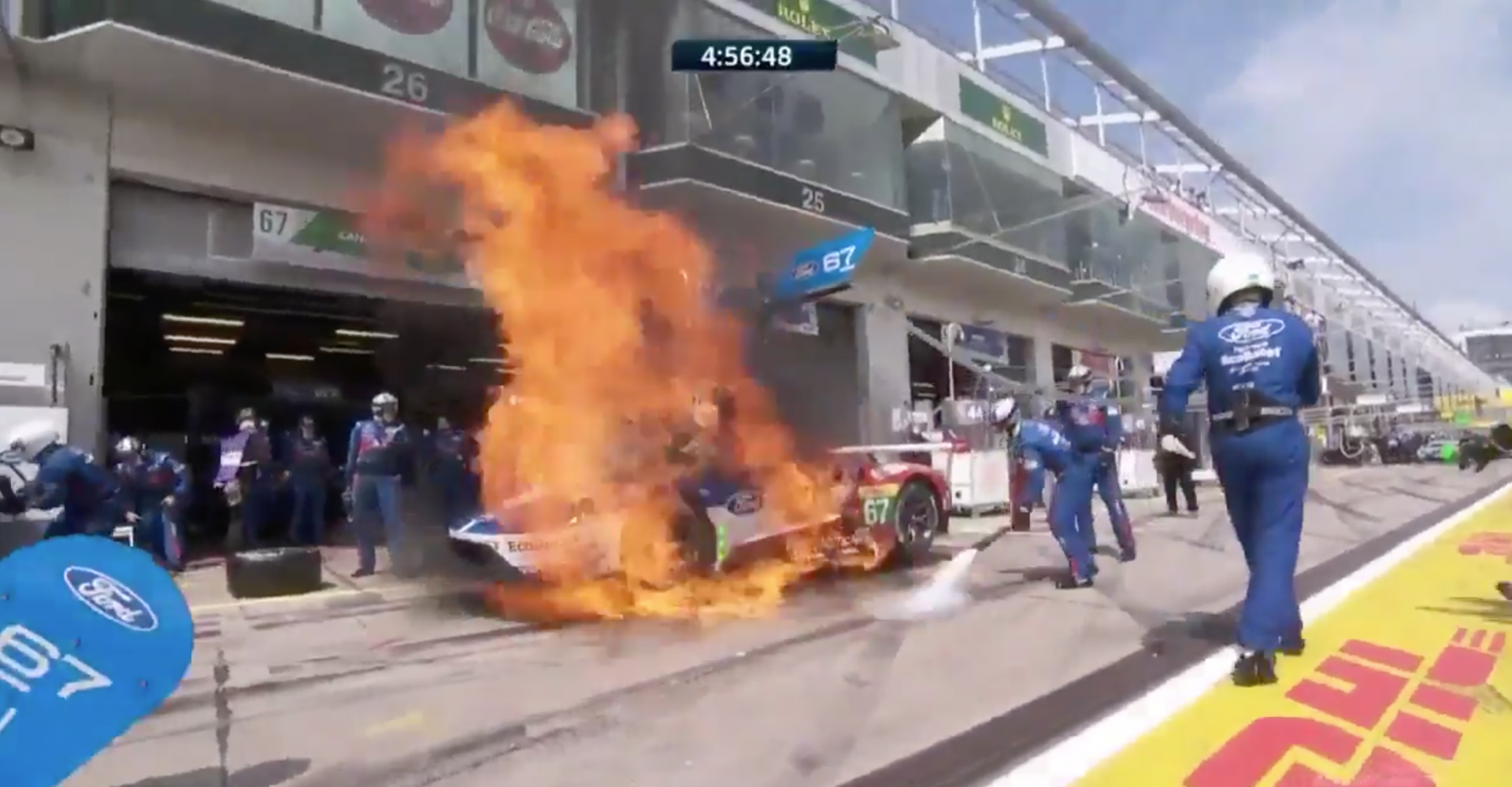 Ford GT Racer Bursts Into Flames During Pit Stop, We All Die A Little On The Inside