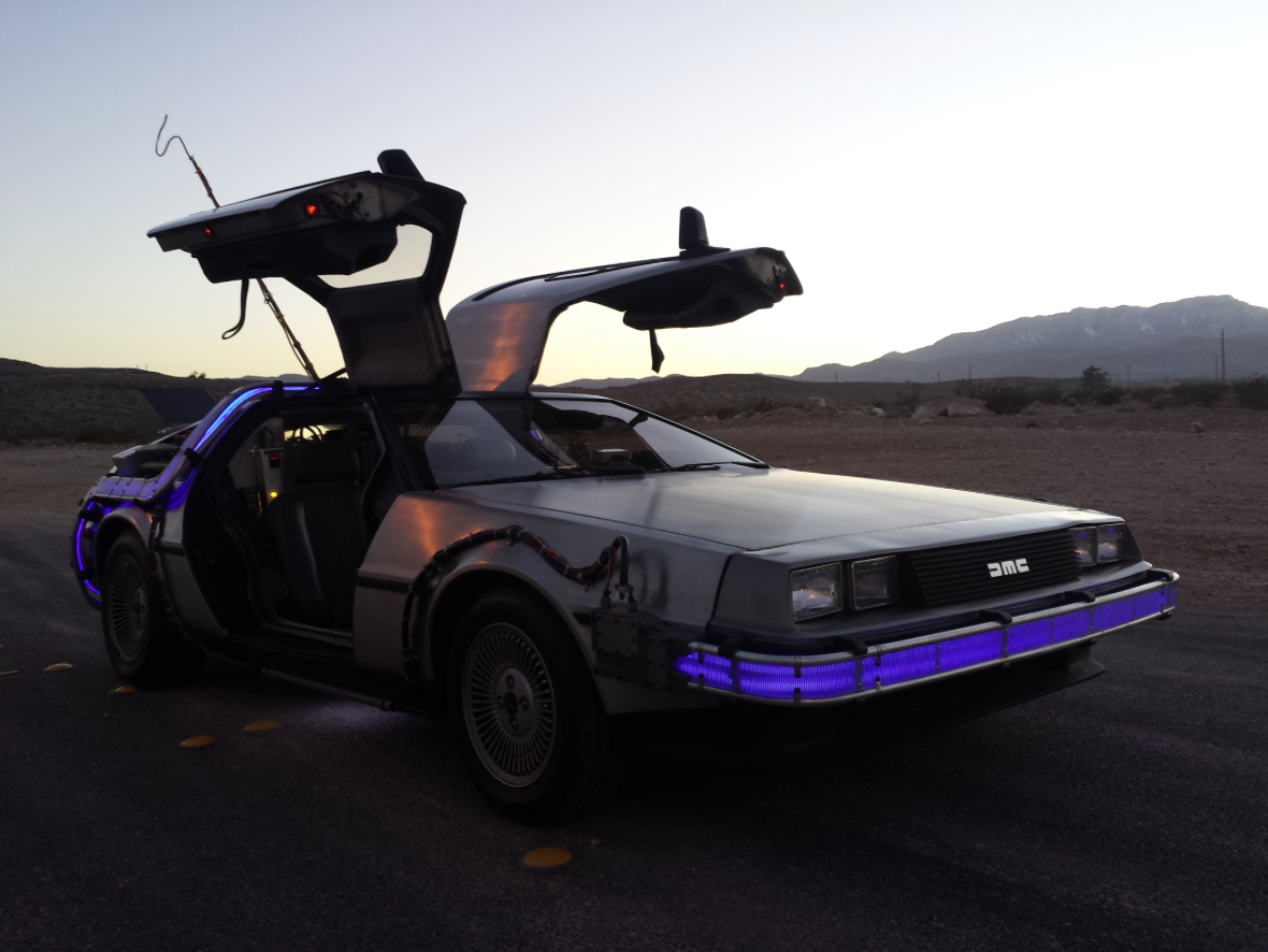 cool back to the future replica delorean fetches thousands time travel not included. Black Bedroom Furniture Sets. Home Design Ideas