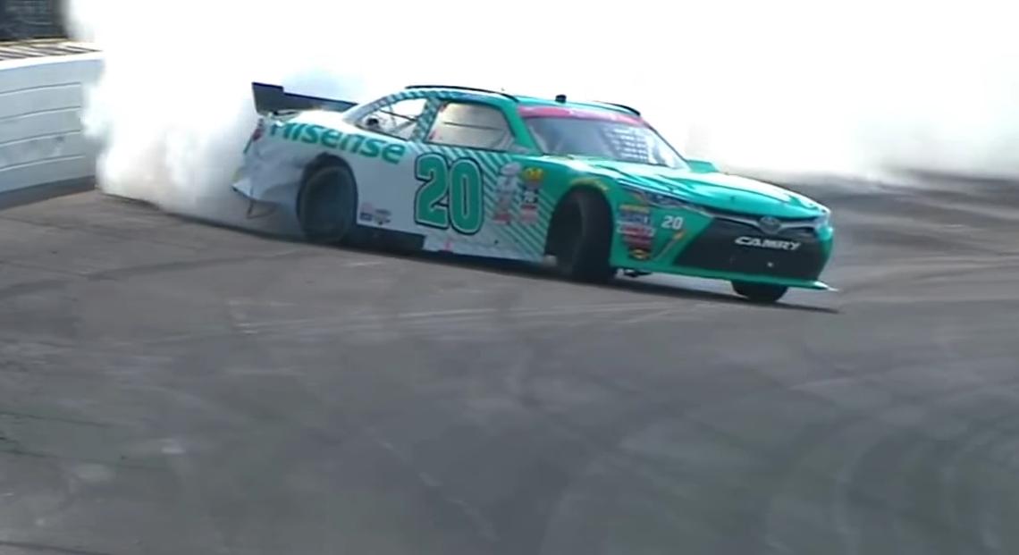 Nascar Driver Suffers Blowout, Pulls Off Amazing 200mph Drift