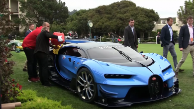 Bugatti Supercar Concept Runs Out Of Fuel, Struggles To Get On Trailer