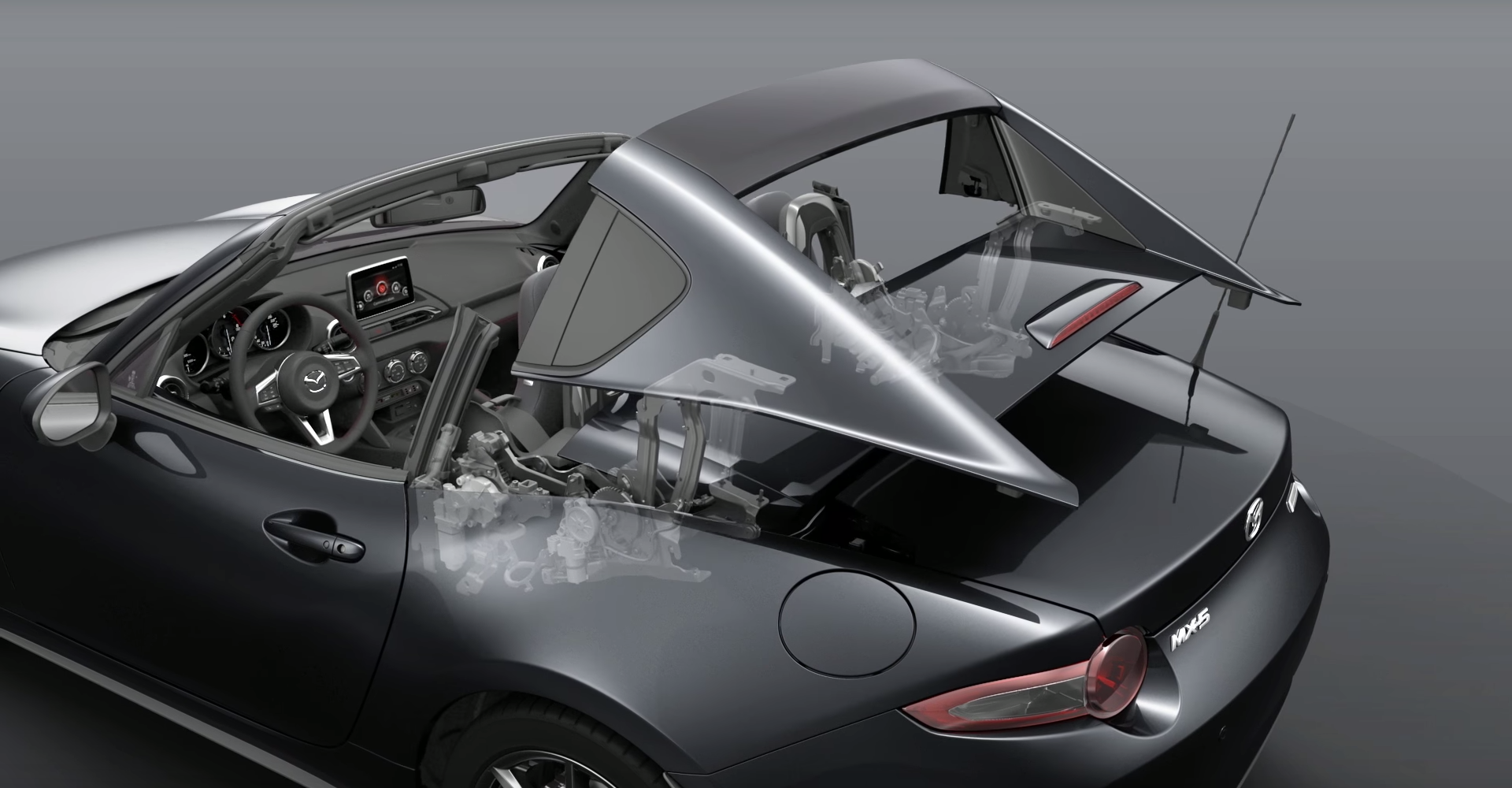Mazda MX-5 RF's Retractable Roof Is Pure Mechanical Ballet