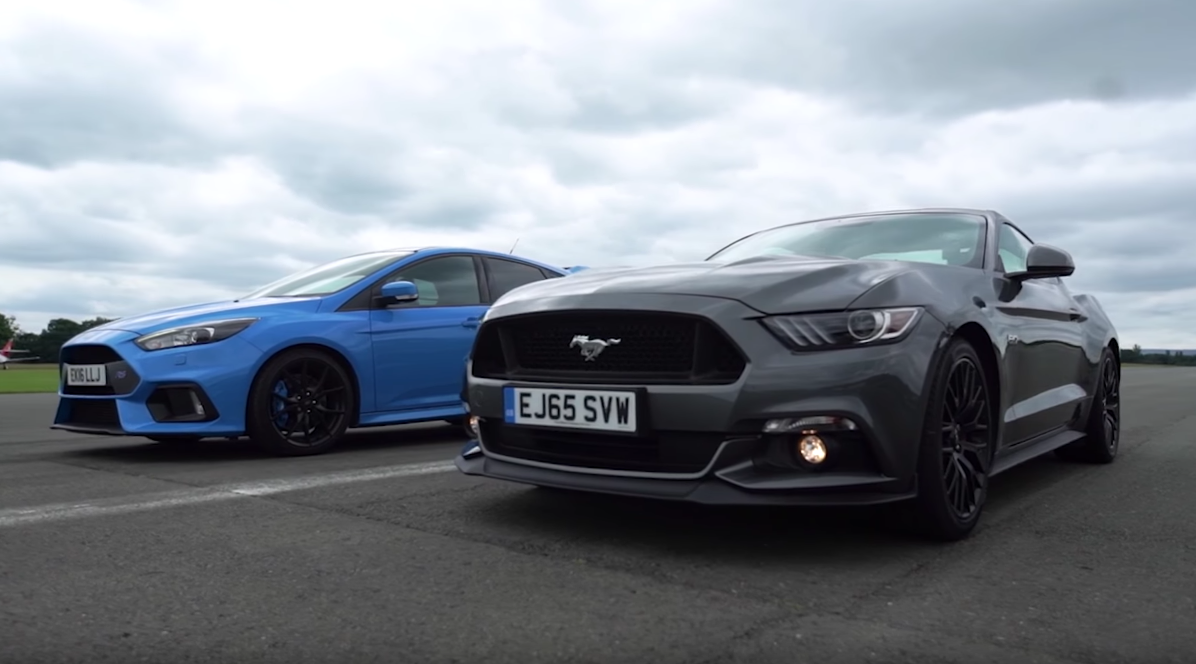 Can The Ford Focus RS Beat The Mustang In A Drag Race?