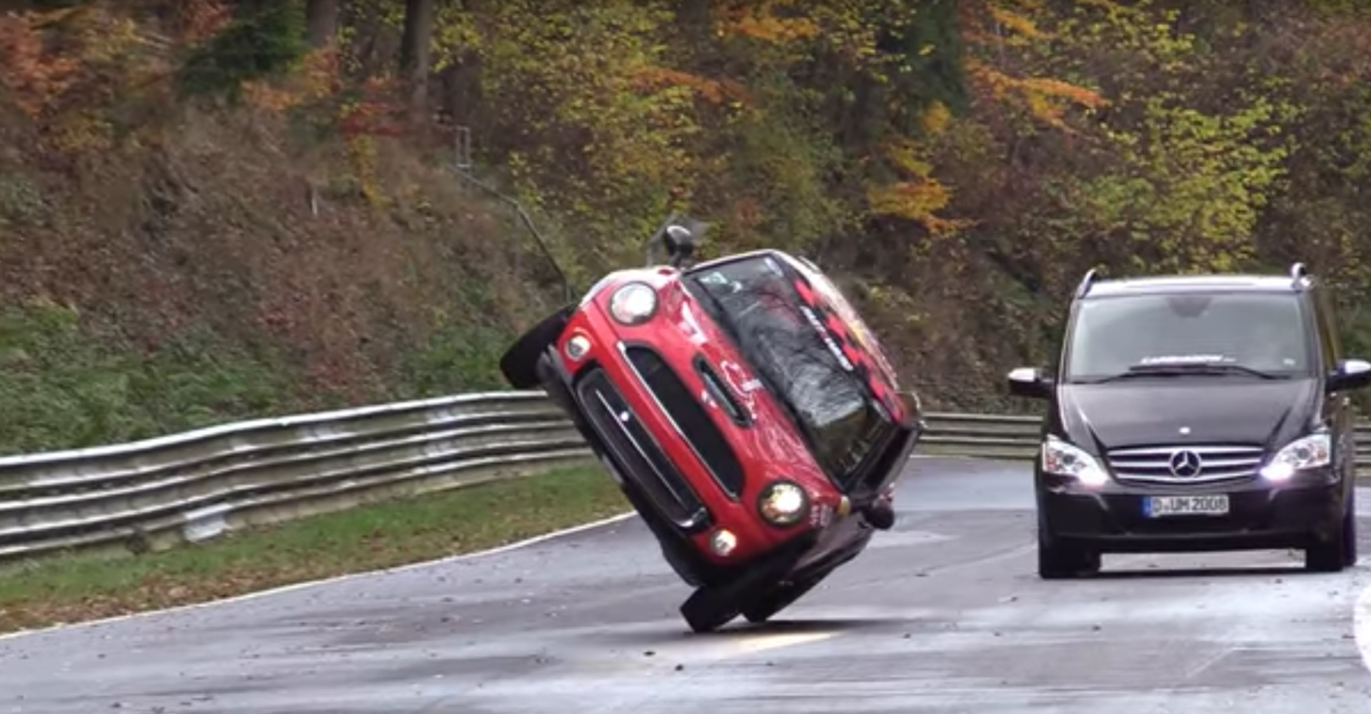 Stunt Driver Skis A Mini Round The Nurburgring