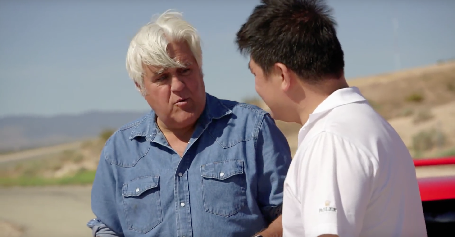 Jay Leno Brings Five Fiery Ferraris To The Racetrack
