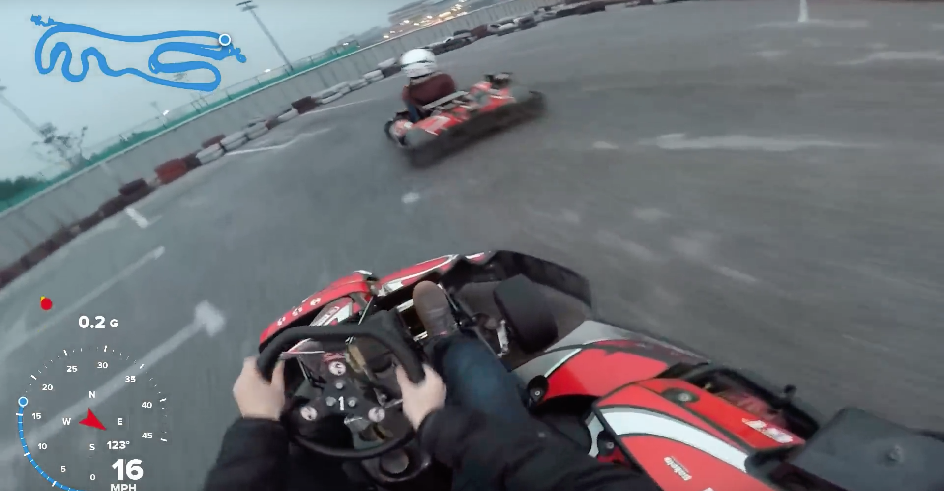 A Very Quick Lesson In How Not To Drive A Go-Kart