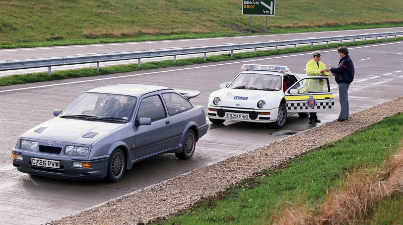 Ford RS200 and Sierra Cosworth police livery