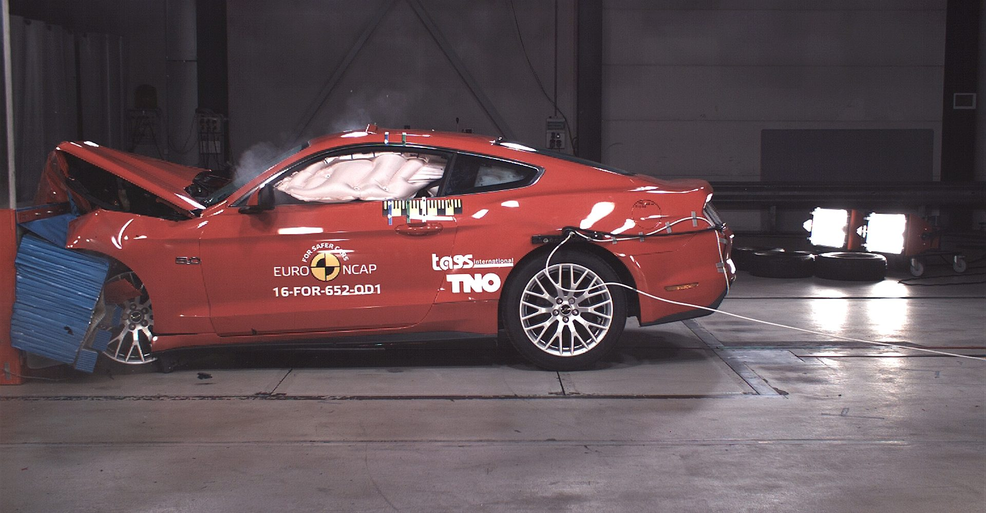 Watch The Ford Mustang Crumple Like A Paper Bag In Crash Test