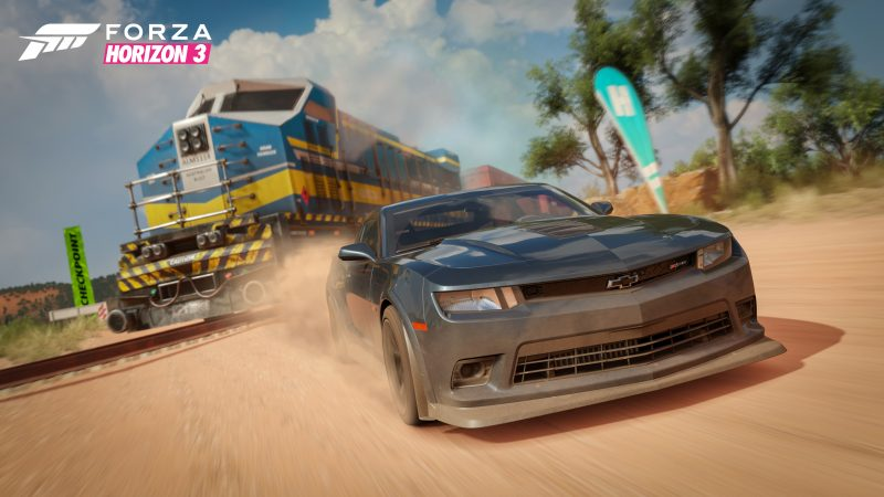 Train Crossing in Forza Horizon 3