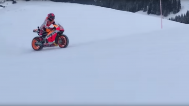 Marc Marquez Shreds In The Snow In Kitzbühel
