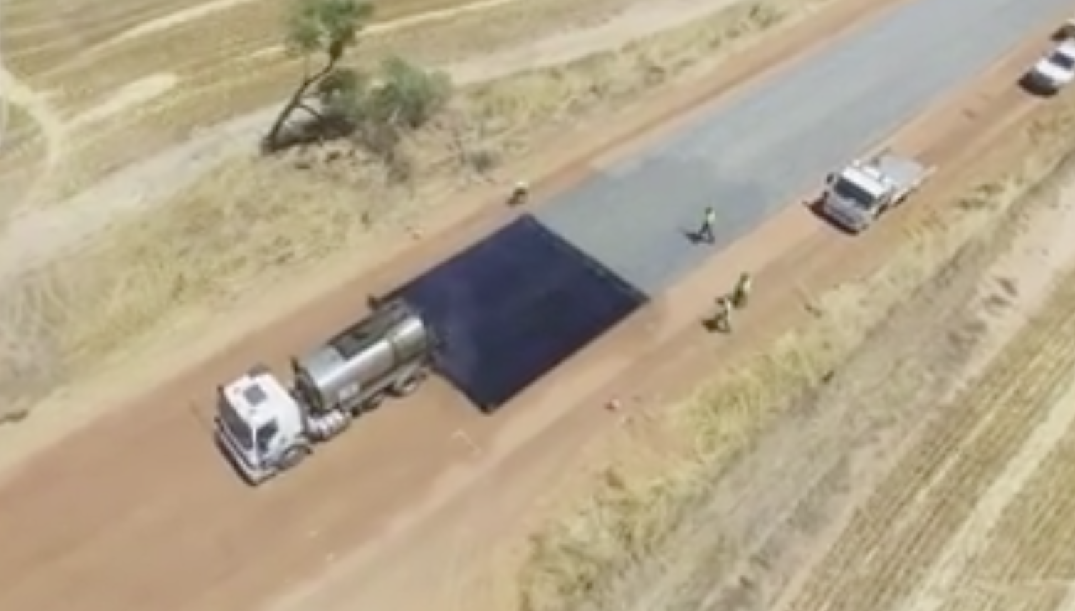 Australians Show How To Build A Road In Double-Quick Time
