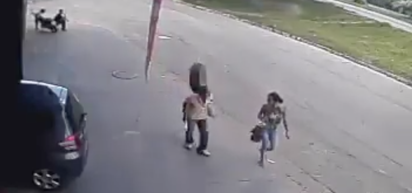 Runaway Tyre Knocks Unsuspecting Pedestrian Flat Out