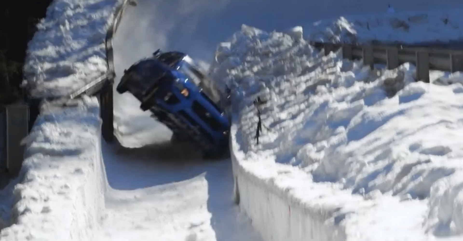Subaru WRX 'Slides' Down Olympic Bobsled Run