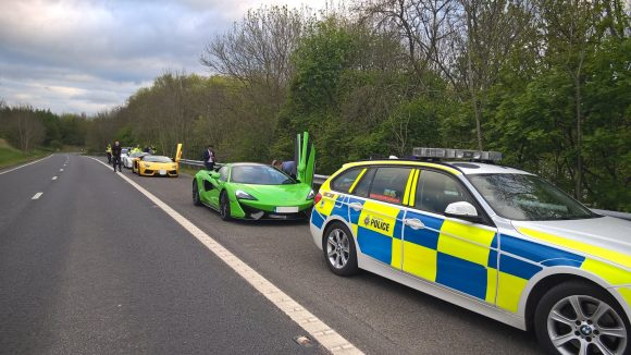 Police Swoop As Drivers Race Hired Supercars Along M1