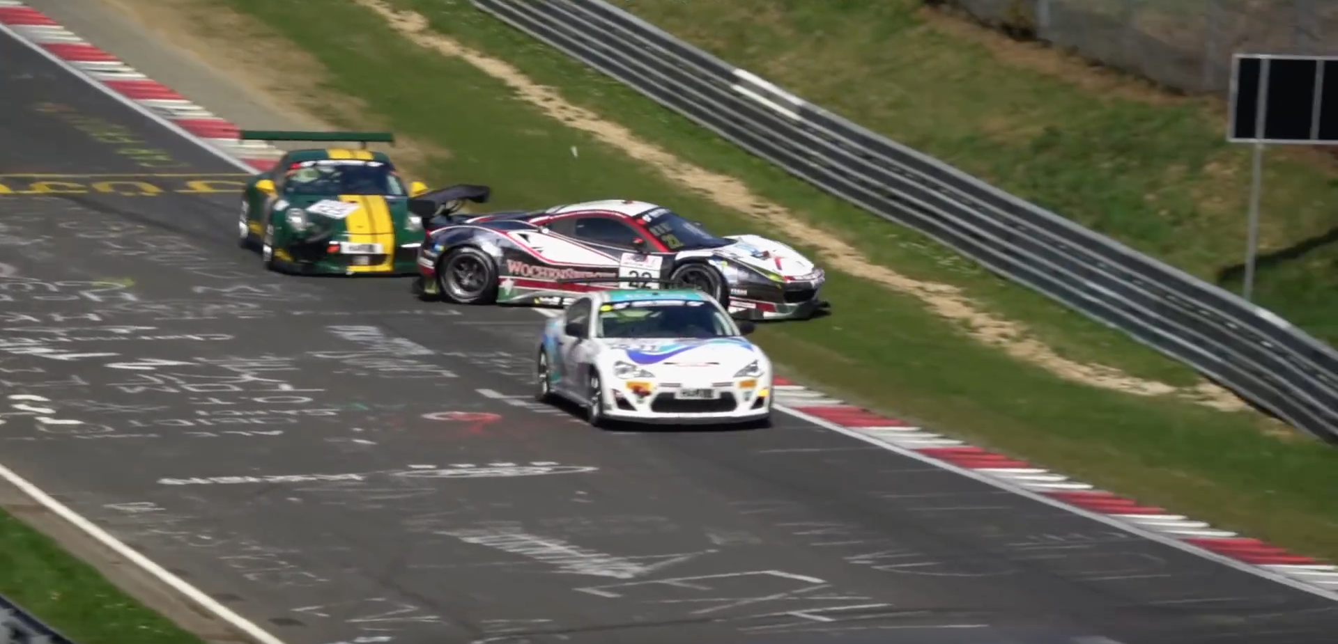 Ferrari 488 GT3 Gets Wrecked At Nürburgring As Overtake Goes Horribly Wrong