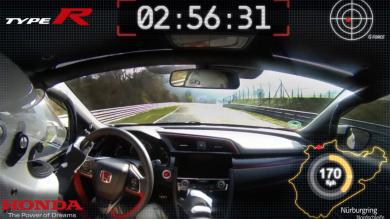 Honda Civic Type R Sets New Lap Record At The Nurburgring