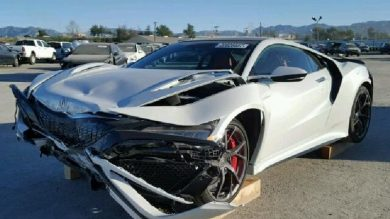 Wrecked NSX Available At A Cut Price