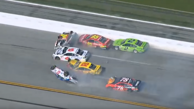 NASCAR Race Is Red-Flagged After Mega Pile-Up