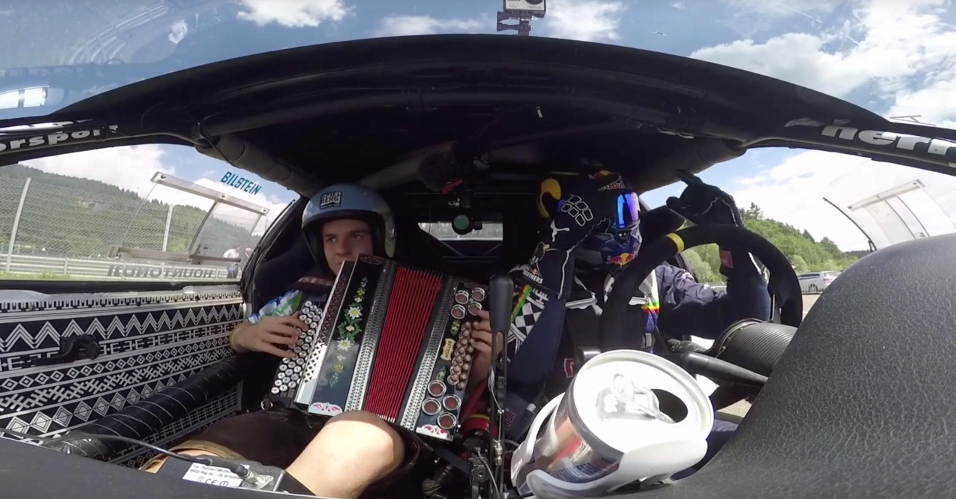 Red Bull drift team: Now with added accordion!