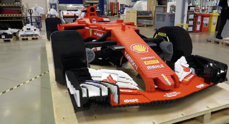 Watch this incredibly detailed Lego F1 Ferrari being built