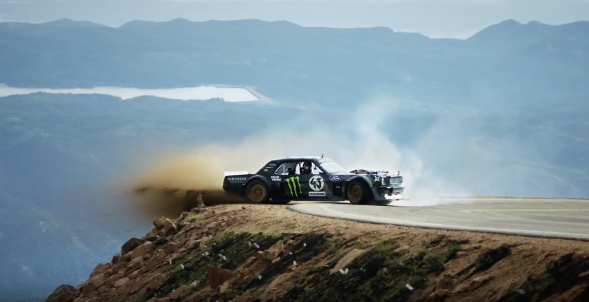 Watch as Ken Block takes on the legendary Pikes Peak Hillclimb