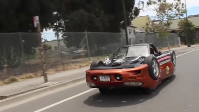 Road-legal upside-down Chevy Camaro invokes wrath of homeowners' association